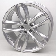 "OEM Audi Q7 21"" Alloy 5-Double Spoke Wheel 4M0-601-025-S - Lip Bent"