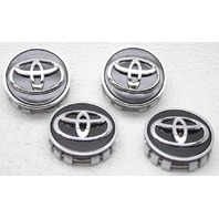 OEM Toyota Highlander, Avalon Black & Chrome 4 Piece Center Cap Set 42603-06150