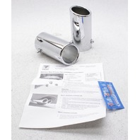 "Vibrant 2"" - 2.75"" 51-69mm Inlet 3"" Outlet Polished Stainless Steel Exhaust Tips"