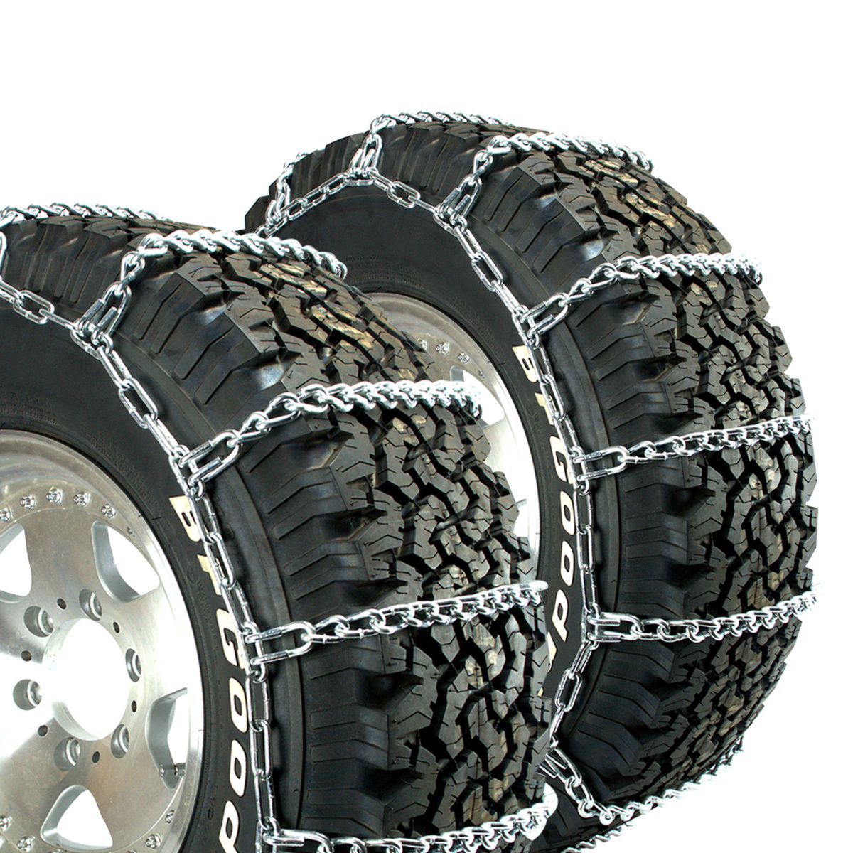 Titan Truck V-Bar Link Tire Chains Dual CAM On Road Ice//Snow 5.5mm 225//75-16