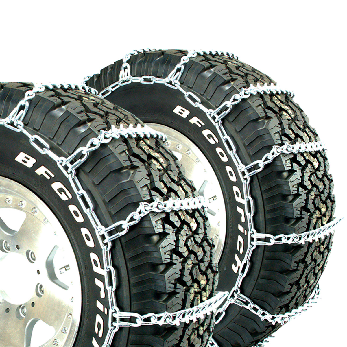 Titan Truck Link Tire Chains CAM Type On Road Snow//Ice 5.5mm 265//75-17