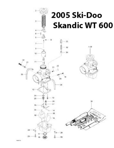 Ski Doo Skandic Wt 600 Snowmobile Carburetor Rebuild Kit 1003 1455