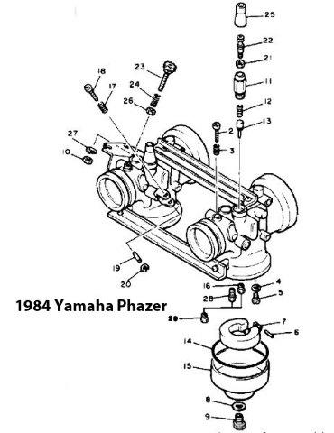 Yamaha Phazer Pz480h Snowmobile Carburetor Rebuild Kit 1003 1460