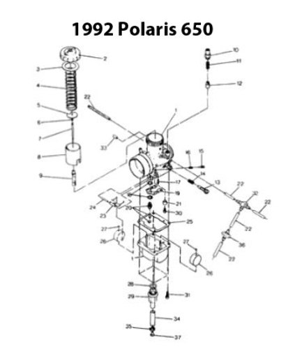 Polaris Xlt Sp Snowmobile Carburetor Rebuild Kit 1003 1479
