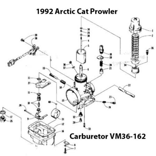Diagram Besides Arctic Cat Carburetor Parts Diagram On 92 Arctic Cat