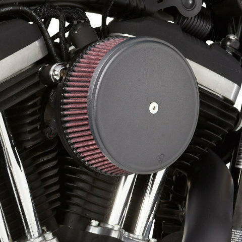 Arlen Ness 18-328 Black Big Sucker Stage I Air Filter Kit with Cover