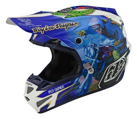 Troy Lee Designs SE4 Malcolm Smith Signature Off-Road Helmet - XS Small Large