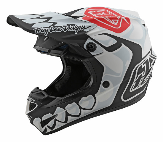 2020 Troy Lee Designs SE4 Skully White Polyacrylite Helmet - XS-2XL