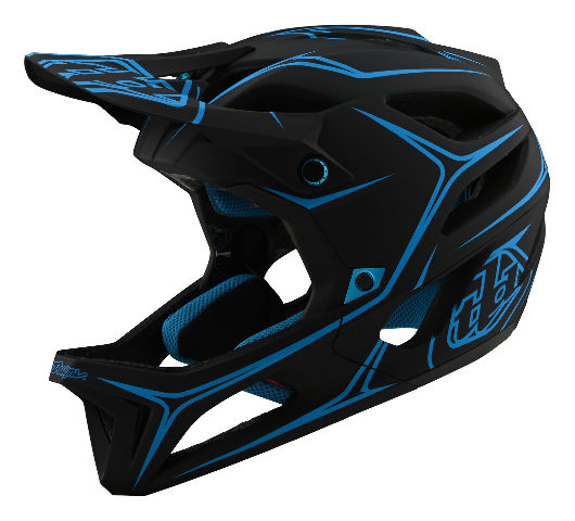 Troy Lee Designs Pinstripe Black Stage MTB Helmet - Size XS/Small