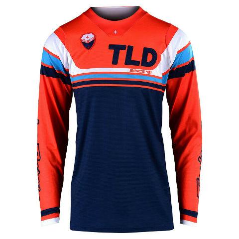 Troy Lee Designs Seca SE Orange/Dark Navy Motocross Jersey - Small or Large