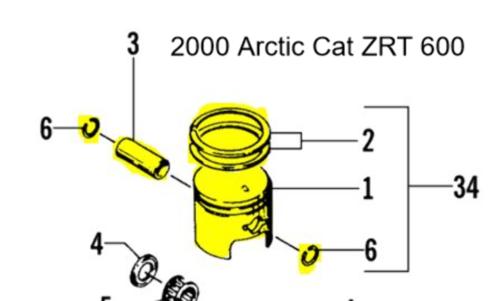 Arctic Cat Zrt 600 Triple Touring 600 Snowmobile T
