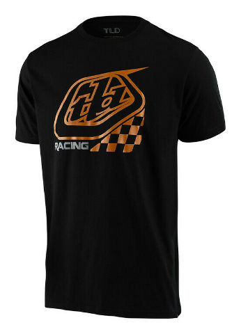 Troy Lee Designs 2.0 Precision Black/Gold Checkers T-Shirt - All Sizes