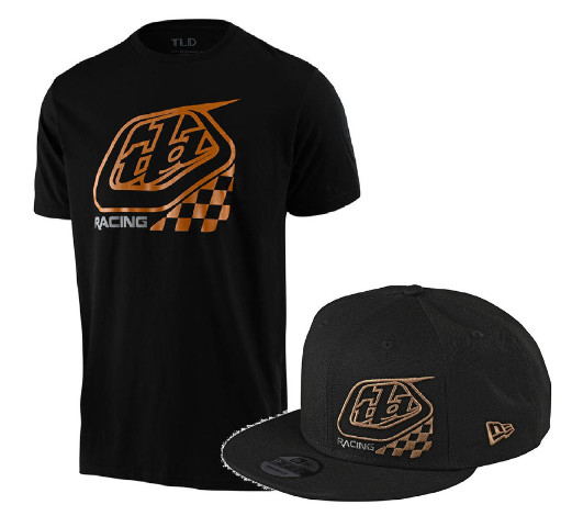 Troy Lee Designs 2.0 Precision Checkers T-Shirt & Snapback Hat  - All Sizes
