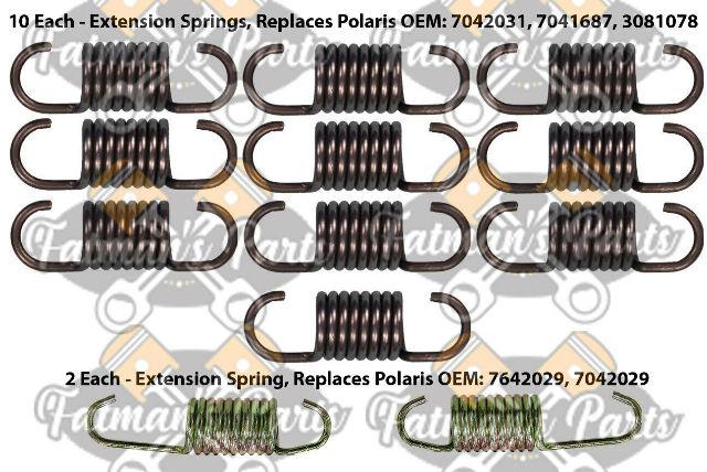 Exhaust Spring Kit for Polaris 2001 700 800 XC SP LE EV Edge Snowmobile