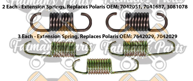 Exhaust Spring Replacement Kit for Polaris 2001 XCF SP Edge Snowmobile