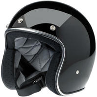 Biltwell Inc Bonanza Gloss Black Motorcycle Helmet XS-2XL