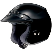 Shoei RJ Platinum-R Open-Face Motorcycle Helmet - BLACK - Adult Sizes XS-3XL