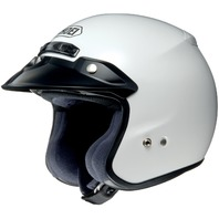 Shoei RJ Platinum-R Open-Face Motorcycle Helmet - WHITE - Adult Sizes XS-3XL