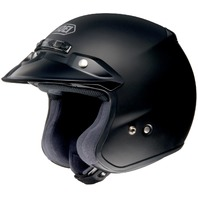 Shoei RJ Platinum-R Open-Face Motorcycle Helmet - MATTE BLACK - Adult XS-3XL