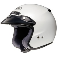Shoei RJ Platinum-R Open-Face Motorcycle Helmet - CRYSTAL WHITE - Adult XS-2XL