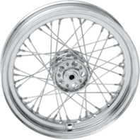 Drag Specialties Chrome 16x3 40-Spoke Wheel for Harley 1936-66 FL