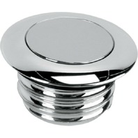 """Harley L96 & Newer Chrome Left Non-Vented Pop-Up Gas Cap 2.56"""" - Drag 0703-0292"""