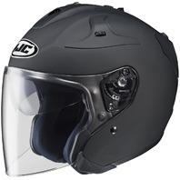 HJC FG-JET Open-Face Motorcycle Helmet - MATTE BLACK - Adult Sizes XS-2XL