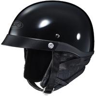 HJC CL-IRONROAD Half Helmet - BLACK - Adult Sizes XS-2XL