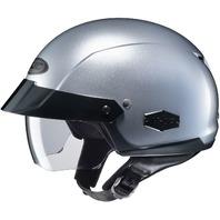 HJC IS-CRUISER Silver DOT Half Helmet w/SunShield Visor System - Sizes XS-2XL