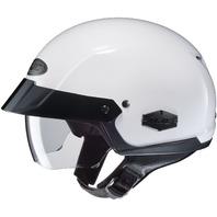 HJC IS-CRUISER White DOT Half Helmet w/SunShield Visor System - Sizes XS-2XL