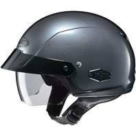 HJC IS-CRUISER Anthracite DOT Half Helmet w/SunShield Visor - Sizes XS-2XL