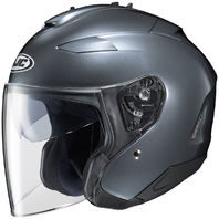 HJC IS-33 II Open-Face Motorcycle Helmet - ANTHRACITE - Adult Sizes XS-2XL