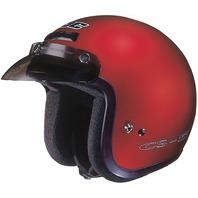 HJC CS-5N Wine Open-Face DOT Helmet w/Low-Profile Visor- Sizes XS-2XL
