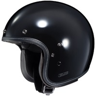 HJC IS-5 Open-Face Motorcycle Helmet - BLACK - Adult Sizes XS-2XL