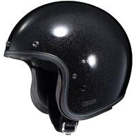 HJC IS-5 Open-Face Motorcycle Helmet - METAL FLAKE BLACK - Adult Sizes XS-2XL