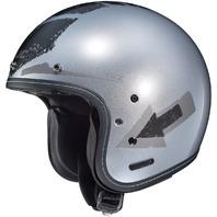 HJC IS-5 ARROW Open-Face Helmet - Silver - Adult Sizes XS-2XL