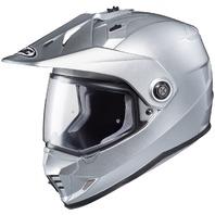 HJC DS-X1 Dual-Sport Helmet - SILVER   Adult Sizes XS-2XL