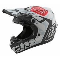 Troy Lee Designs SE4 Skully White Polyacrylite Helmet - Size Adult XL