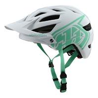 2020 Troy Lee Designs Drone White/Aqua A1 MTB Helmet - 4 Sizes