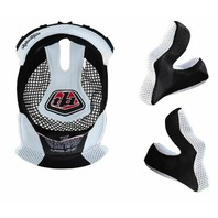 Troy Lee Designs D3 White Replacement Helmet Headliner & Cheekpad Set - 2XL
