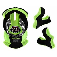 Troy Lee Designs D3 Yellow Replacement Helmet Headliner & Cheekpad Set - Small