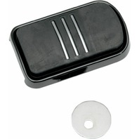 Drag Specialties Sweeper Brake Pedal Pad For Harley-Davidson Black 1611-0033