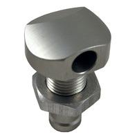 """Billet Thru-Hull Water Fitting Polished 3/8"""" 90 Deg. - Blowsion 04-03-008"""