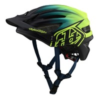 Troy Lee Designs A2 MIPS Stain'd Navy/Yellow MTB Helmet - 3 Sizes