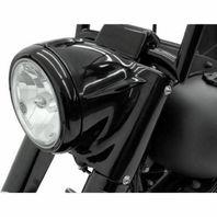 "7"" Black Headlight Cowl Nacelle Kit Harley Davidson Softail FL 2001-2017"