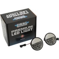 "Harley Davidson Drag 2001-1543 Premium 4 1/2"" Reflector Style LED Passing Lamps"