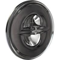 "Harley Drag Premium 7"" Reflector Style LED  Motorcycle Headlamp Dark Chrome"