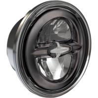 "Drag Specialties Dark Chrome LED Premium 5 3/4"" Reflector Style Front Headlight"
