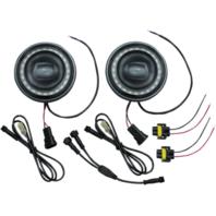 """Kuryakyn 2466 4 1/2"""" Orbit Vision LED Passing Spot Lamps Spotlights for Harley"""