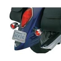 Kuryakyn 2269 Deep Dish Bezels with Red Lenses for Honda and Kawasaki Cruisers